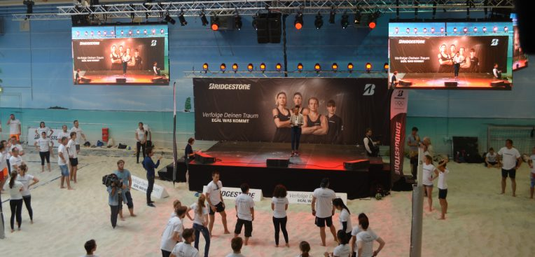 Beachcenter Weltrekord Beachvolleyballtrailing 2017
