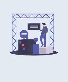 Raumtrennung und Infoschalter